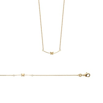 Collier femme plaqué-or 750/000 3 microns 92125345