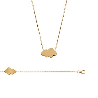 Collier femme plaqué-or 750/000 3 microns 92132845