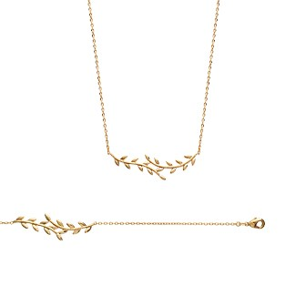 Collier femme plaqué-or 750/000 3 microns 92132745