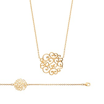 Collier femme plaqué-or 750/000 3 microns 92115145