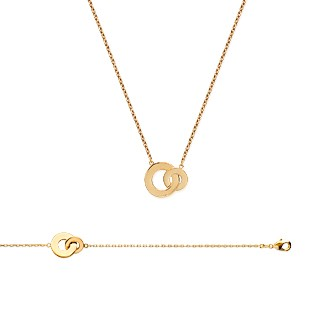 Collier femme plaqué-or 750/000 3 microns 92116445