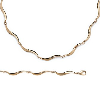 Collier femme plaqué-or 750/000 3 microns 29006142