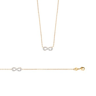 Collier femme plaqué-or 750/000 3 microns bicolore oz 97147845