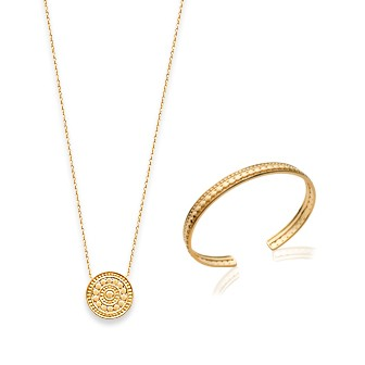Collier femme plaqué-or 750/000 3 microns 92159445