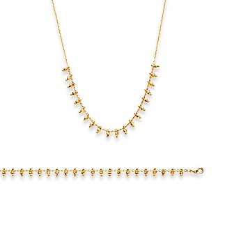 Collier femme plaqué-or 750/000 3 microns 29092842