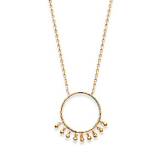 Collier femme plaqué-or 750/000 3 microns 921614