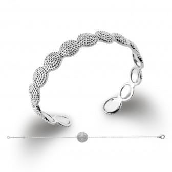 Bracelet femme argent rhodiée 925/000 72163618