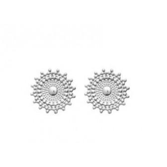 Boucles d'oreilles argent rhodié 925/000 721645