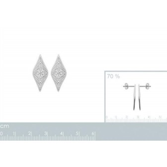 Boucles d'oreilles argent rhodié 925/000 7558300