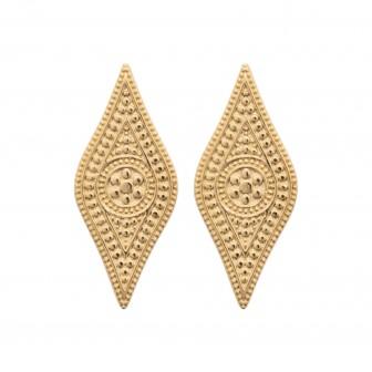 Boucles d'oreilles plaqué-or 750/000 3 microns 2558300