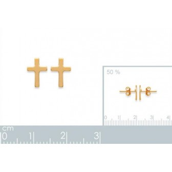 Boucles d'oreilles plaqué or 750/000 3 microns