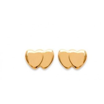 Boucles d'oreilles plaqué or 750/000 3 microns CCBBBH