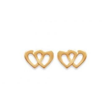 Boucles d'oreilles plaqué or 750/000 3 microns CECDDG