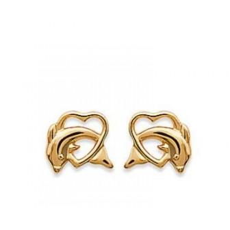 Boucles d'oreilles plaqué or 750/000 3 microns CEJDHAC