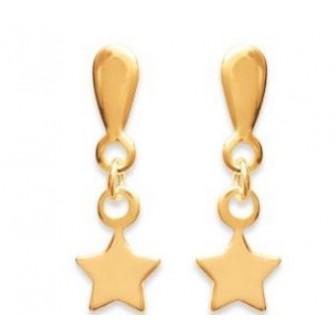 Boucles d'oreilles plaqué or 750/000 3 microns CECEF