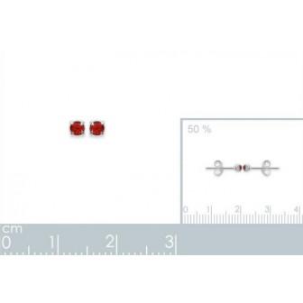 Boucles d'oreilles tige argent cristal
