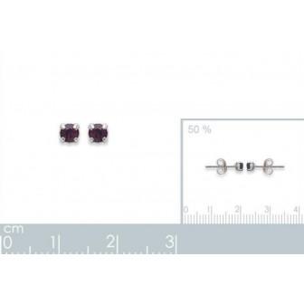 Boucles d'oreilles tige argent cristal -