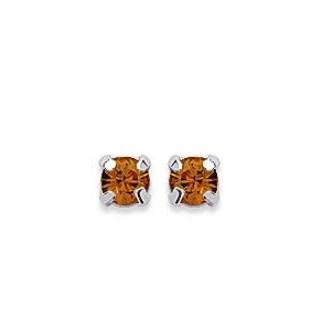 Boucles d'oreilles tige argent cristal DEHCJ