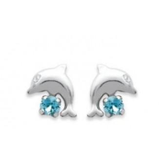 Boucle d'oreilles argent 925/000 cristal BECDBHJG