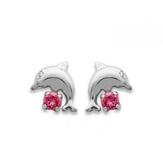 Boucle d'oreilles argent 925/000 cristal BECDBHJI