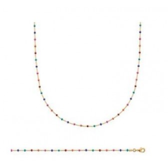 Collier plaqué-or 750/000 3 microns Email 29093545