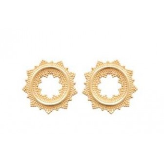 Boucles d'oreilles plaqué-or 750/000 3 microns 2558600