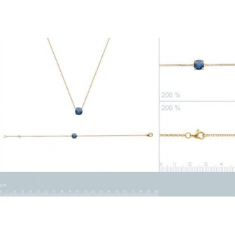 Bracelet plaqué-or 750/000 3 microns pierre synthétique 97304118