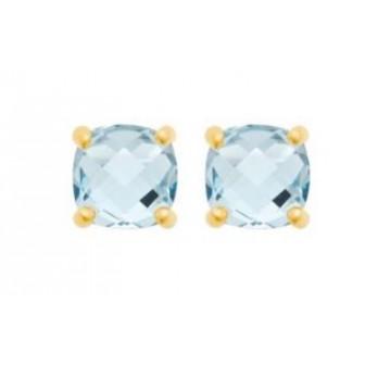 Boucles d'oreilles plaqué-or 750/000 3 microns pierre synthétique 2556860
