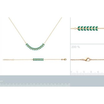 Collier plaqué-or 750/000 3 microns Email 29093242