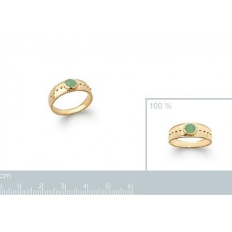 Bague plaqué-or 750/000 5 microns Aventurine 2275750