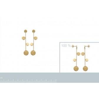 Boucles d'oreilles plaqué-or 750/000 3 microns 2558200