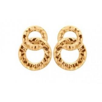Boucles d'oreilles plaqué-or 750/000 3 microns 2558000