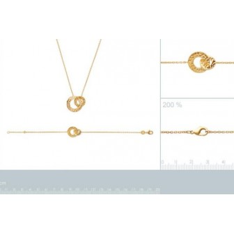 Collier plaqué-or 750/000 3 microns 92163945