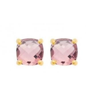 Boucles d'oreilles plaqué-or 750/000 3 microns pierres synthétiques 2556880