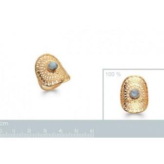Bague plaqué-or 750/000 5 microns Labradorite 2272815