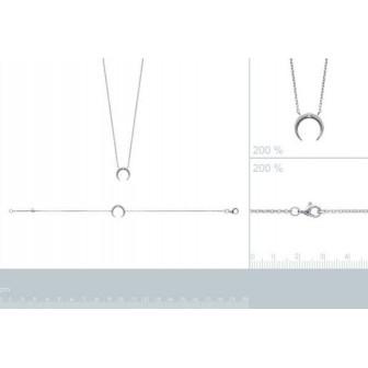 Bracelet/collier argent rhodiée 925/000 oz IHBJBE