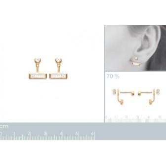 Lobes d'oreilles plaqué-or 750/000 3 microns oz CFECJBA