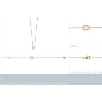 Bracelet plaqué-or 750/000 3 microns Quartz Rose 97312618