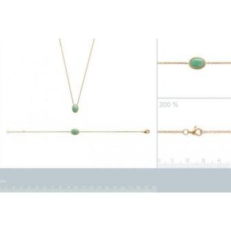 Bracelet plaqué-or 750/000 3 microns Pierre Aventurine 97309118