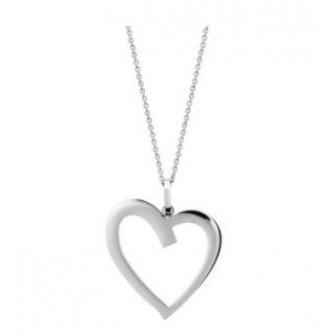 Collier femme coeur Acier 316 L 312011