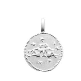 Pendentif argent 925/000 rhodié Gémeaux 77696005