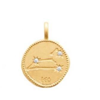Pendentif zodiaque constellation Lion plaqué-or 750/000 3 microns oz 27687107