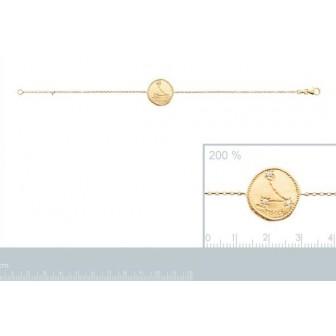 Bracelet plaqué-or 750/000 3 microns oz astral constellation Poisson 973154