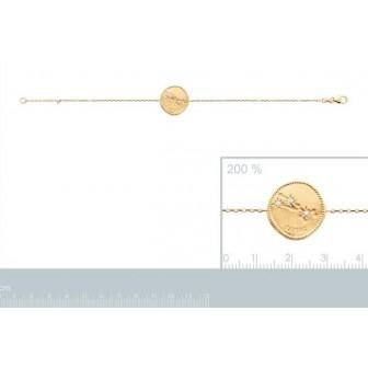Bracelet plaqué-or 750/000 3 microns oz astral constellation Taureau 973156