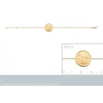 Bracelet plaqué-or 750/000 3 microns oz astral constellation Cancer 973158