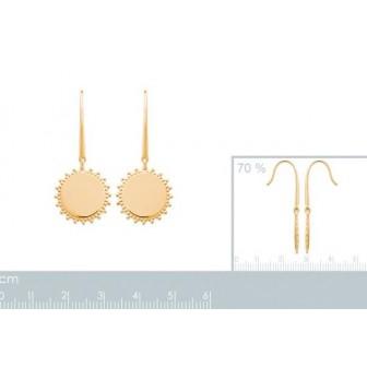 Boucles d'oreilles plaqué-or 3 microns 2563200