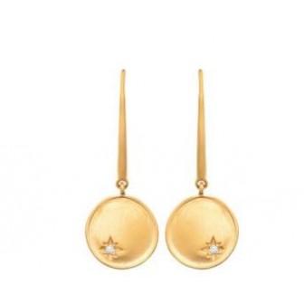 Boucles d'oreilles plaqué-or 3 microns constellation oz 2560810