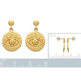 Boucles d'oreilles plaqué-or 750/000 3 microns 2559100