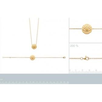 Bracelet plaqué-or 750/000 3 microns 92164818