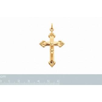 Pendentif plaqué-or 750/000 3 microns croix 2768600